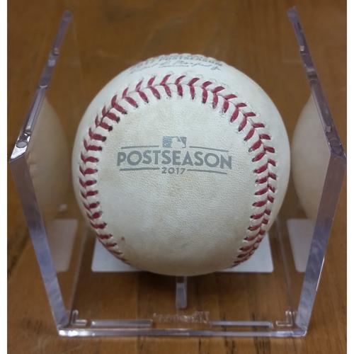 Photo of NLDS Game 5 Game-Used Baseball: Trea Turner Single