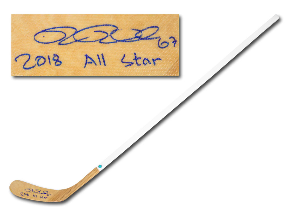 Rickard Rakell Autographed Wood Hockey Stick with 2018 All Star Inscription *Anaheim Ducks*