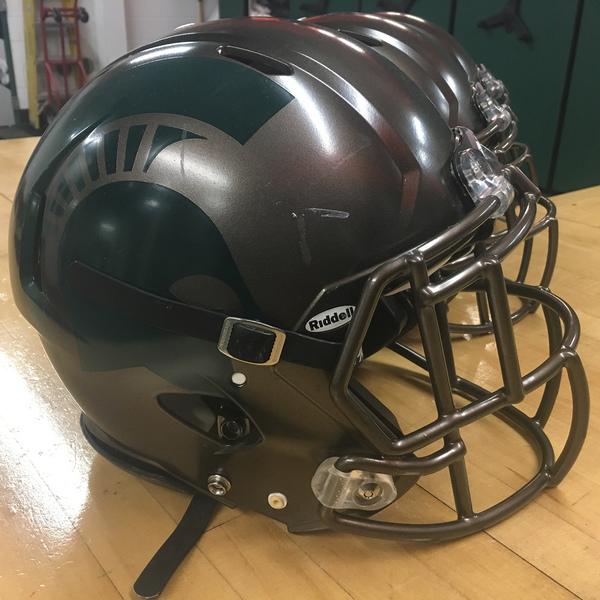 Game-Worn Spartan Football Bronze Helmet - BUY IT NOW