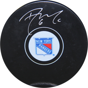 Dylan McIlrath Signed New York Rangers Puck