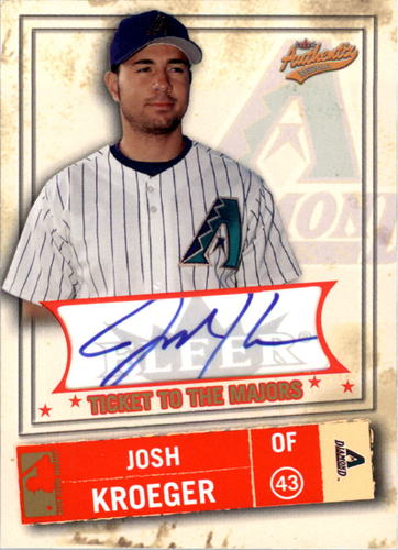 Photo of 2005 Fleer Authentix General Admission #109 Josh Kroeger TM AU