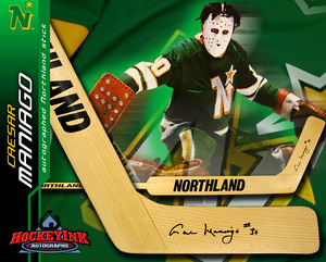 CAESAR MANIAGO Signed Vintage Northland Stick - Minnesota North Stars
