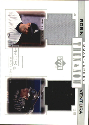 Photo of 2001 Upper Deck Pros and Prospects Then and Now Game Jersey #TNRV Robin Ventura