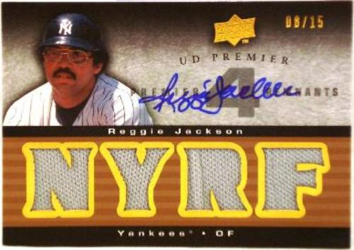 Photo of 2008 Upper Deck Premier Reggie Jackson Jersey AUTO 15/15