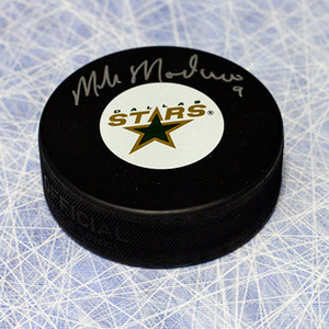 Mike Modano Autographed Dallas Stars Hockey Puck