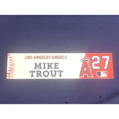 Photo of Mike Trout Game-Used 2016 Locker Tag