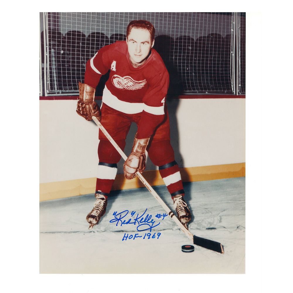RED KELLY Signed Detroit Red Wings 8 X 10 Photo - 70344