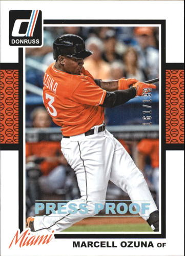 Photo of 2014 Donruss Press Proofs Silver #309 Marcell Ozuna