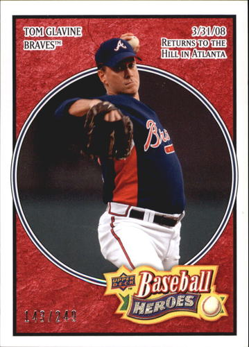 Photo of 2008 Upper Deck Heroes Red #8 Tom Glavine