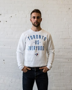 Unisex Toronto VS. Everybody Crewneck White by Peace Collective