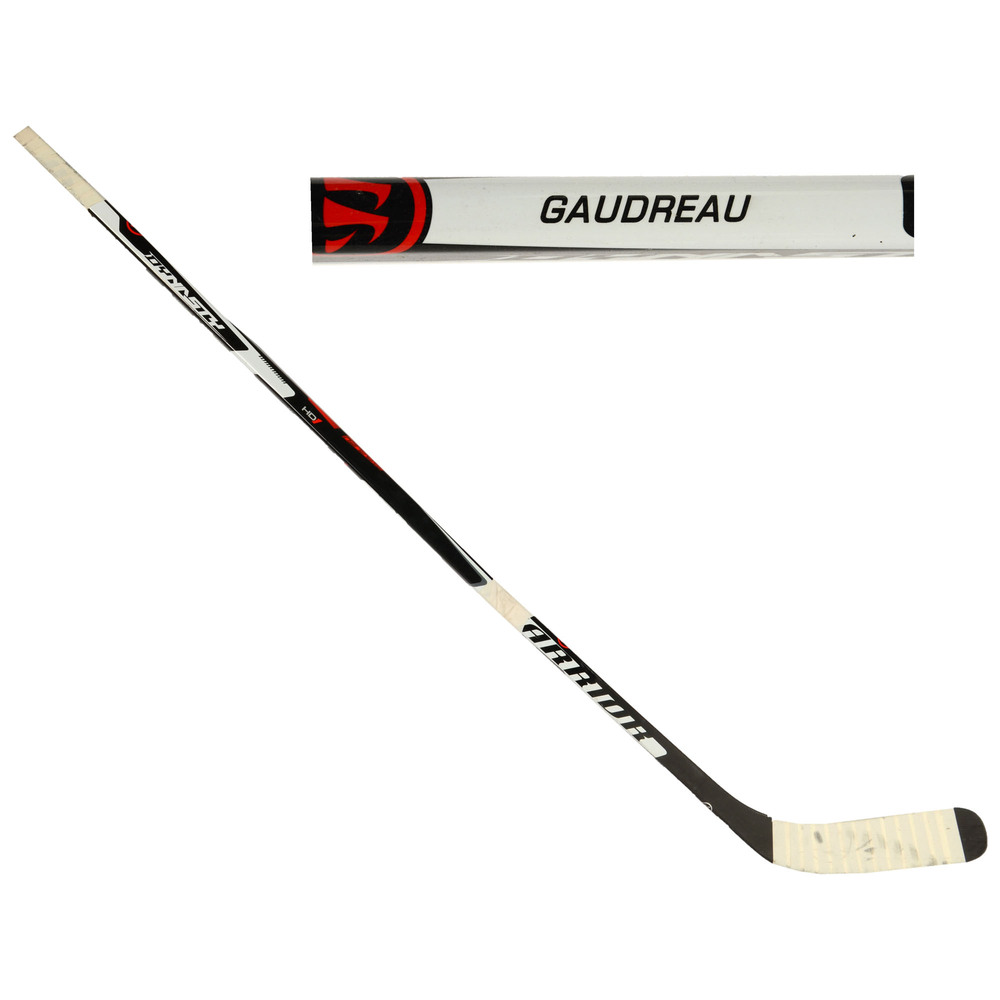 Johnny Gaudreau Calgary Flames Team North America 2016 World Cup of Hockey Tournament-Used Warrior Dynasty HD1 Broken Hockey Stick