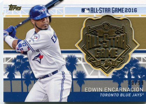 Photo of 2017 Topps All Star Team Medallions Gold  Edwin Encarnacion 70/99