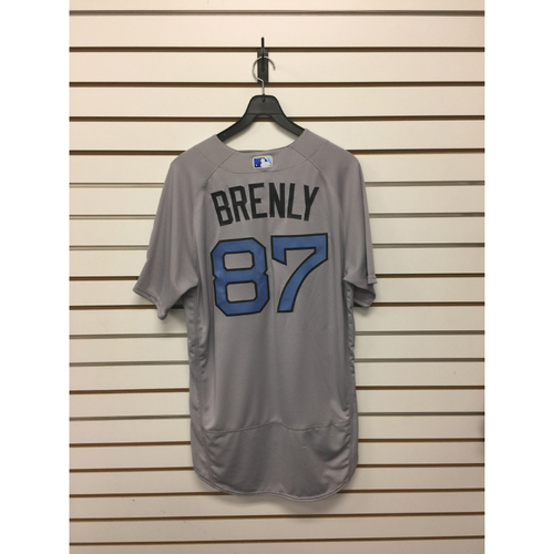 Photo of Mike Brenly Game-Used June 18, 2017 Father's Day Road Jersey