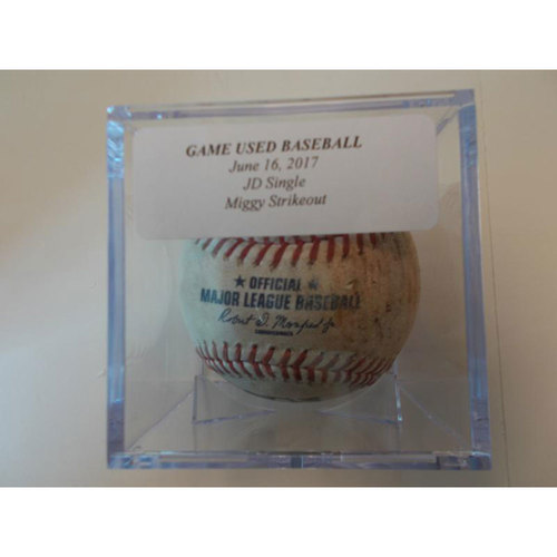 Photo of Game-Used Baseball: JD Martinez Single & Miguel Cabrera Strikeout