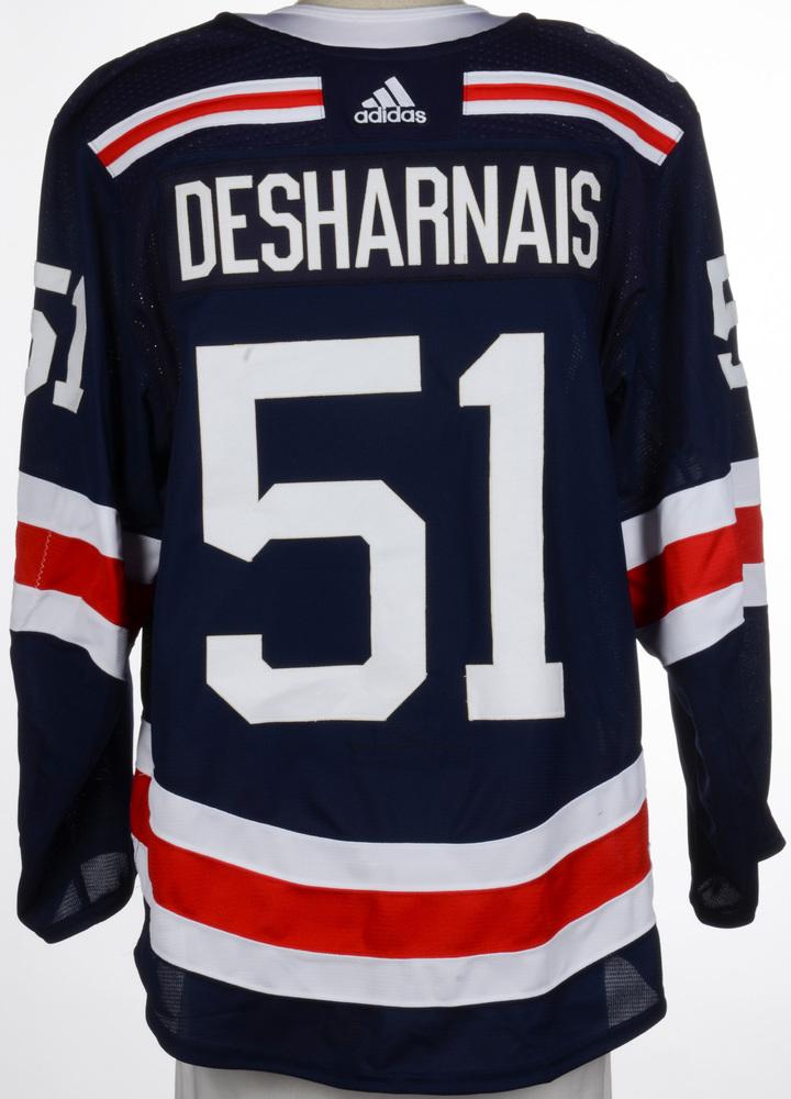 David Desharnais New York Rangers Game-Worn 2018 NHL Winter Classic Jersey