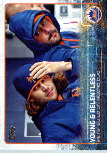 Photo of 2015 Topps Update #US188 Young and Relentless/Jacob deGrom/Matt Harvey