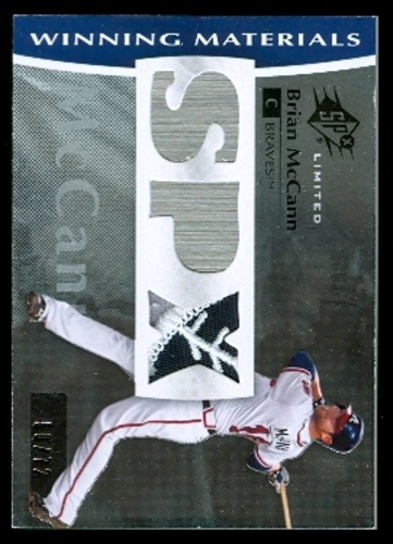 Photo of 2008 SPx Winning Materials Limited Patch SPx #BM Brian McCann/72