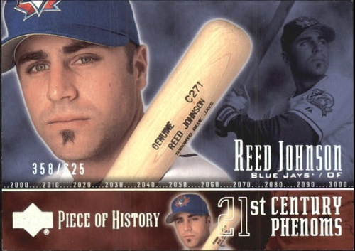 Photo of 2002 UD Piece of History #95P Reed Johnson 21CP RC