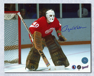Rogie Vachon Detroit Red Wings Autographed Hockey Goalie 8x10 Photo