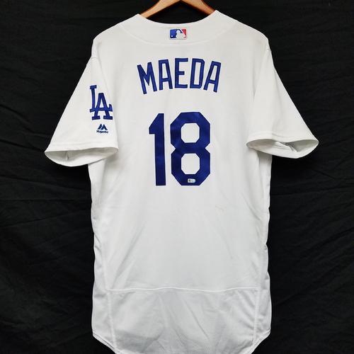 Photo of Kershaw's Challenge: Kenta Maeda Game-Used Jersey - 8th Win