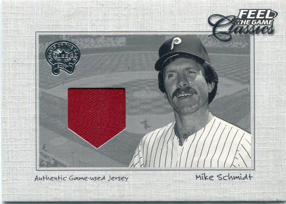 2001 Greats of the Game Feel the Game Classics #19 Mike Schmidt Jsy