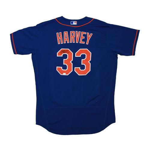Photo of Amazin' Auction: Matt Harvey Autographed Blue Jersey - Lot # 15