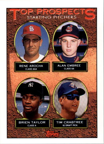 Photo of 1993 Topps #742 Rene Arocha/Alan Embree/Brien Taylor/Tim Crabtree