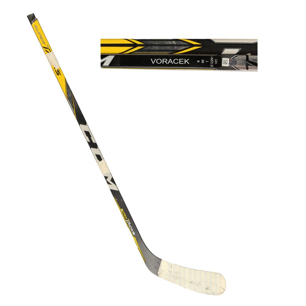 Jakub Voracek Philadelphia Flyers Team Czech 2016 World Cup of Hockey Tournament-Used CCM Supertacks Broken Hockey Stick