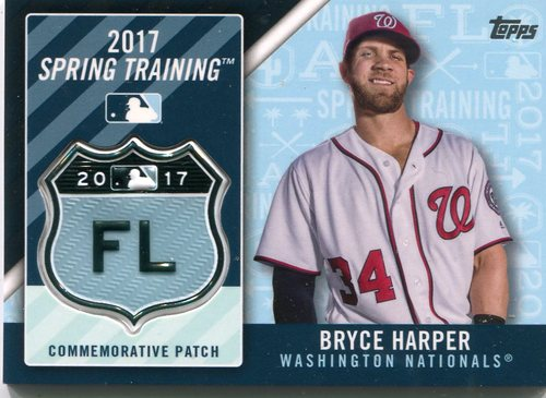 Photo of 2017 Topps Spring Training Logo Patches  Bryce Harper