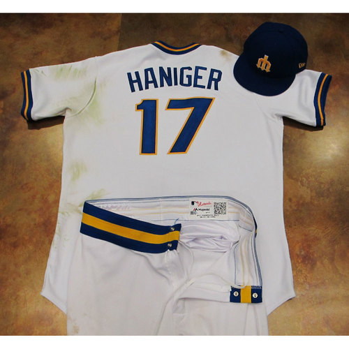 Photo of Mitch Haniger Game-Used Turn Back The Clock 1977 Uniform 6/24/17