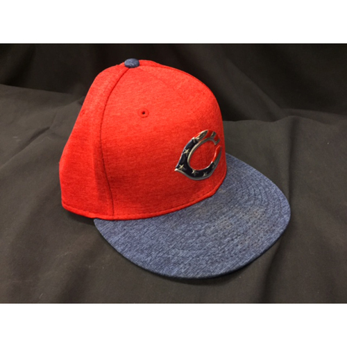 Photo of Jose Peraza -- Game-Used Cap from Reds @ Rockies on July 4, 2017