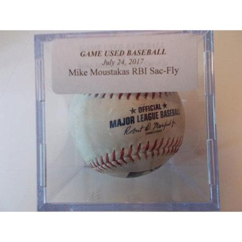 Photo of Game-Used Baseball: Mike Moustakas RBI Sacrifice Fly