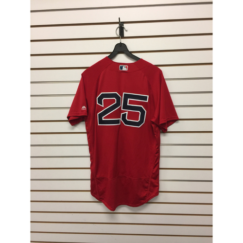 Jackie Bradley Jr Game-Used June 17, 2016 Home Alternate Jersey