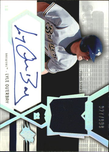 Photo of 2004 SPx Swatch Supremacy Signatures Young Stars #LO Lyle Overbay