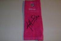 BCA - FALCONS JUSTIN HARDY SIGNED AND GAME ISSUED BCA TOWEL (OCTOBER 23 2016)