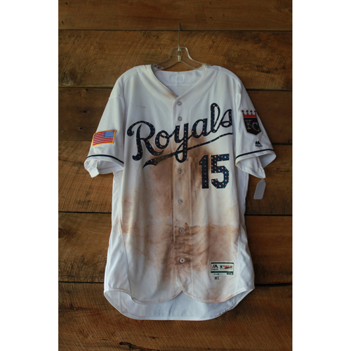 Photo of Whit Merrifield Game-Used Jersey (7/2/17 MIN at KC) (Size 46)