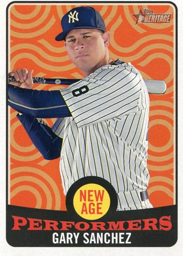 Photo of 2017 Topps Heritage New Age Performers  Gary Sanchez  -- Yankees post-season