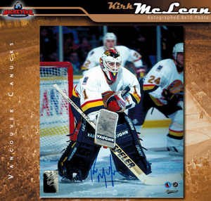 KIRK MCLEAN Signed Vancouver Canucks 8 X 10 Photo - 70440