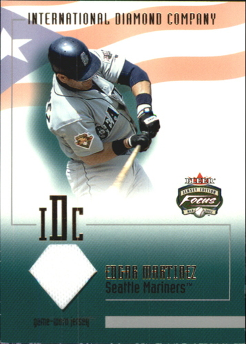 Photo of 2002 Fleer Focus JE Intl Diamond Co. Game Used #2 Edgar Martinez Jsy
