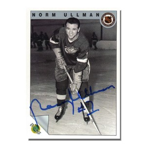 Norm Ullman Autographed Detroit Red Wings 1992 Ultimate Trading Card Company Card