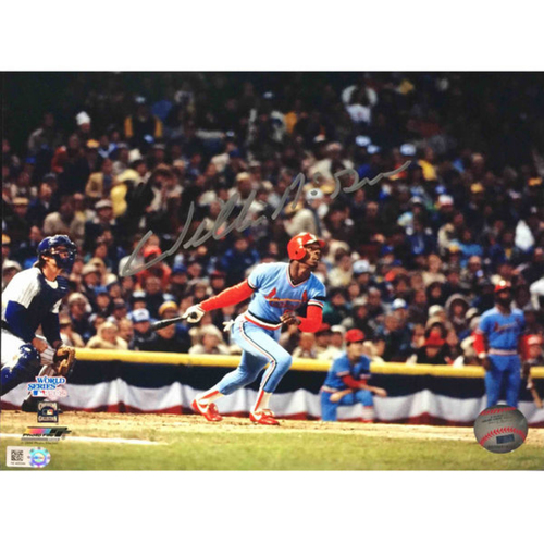 Photo of Cardinals Authentics: Willie McGee 1982 World Series Autographed Photo