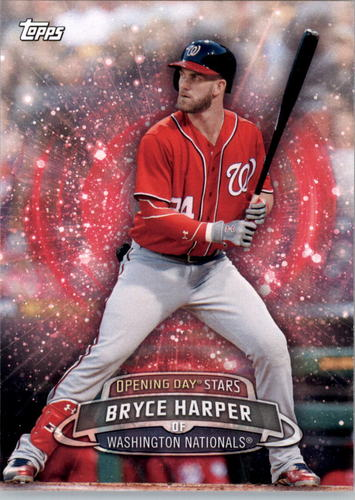 Photo of 2017 Topps Opening Day Opening Day Stars #ODS12 Bryce Harper