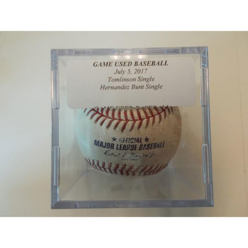 Photo of Game-Used Baseball: Kelby Tomlinson Single & Gorkys Hernandez Bunt Single