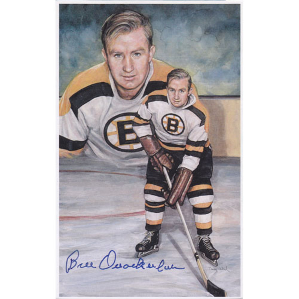 RARE Bill Quackenbush Autographed Boston Bruins Limited-Edition Legends of Hockey Card