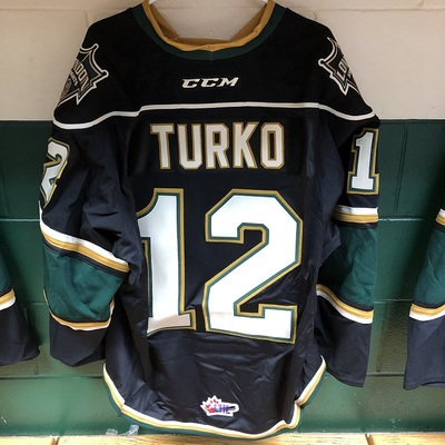 Alex Turko 2016-2017 Black Game Jersey