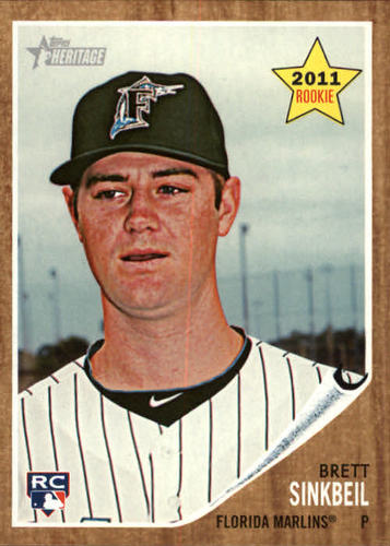 Photo of 2011 Topps Heritage #131 Brett Sinkbeil RC