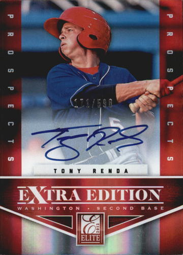 Photo of 2012 Elite Extra Edition #139 Tony Renda AU/598