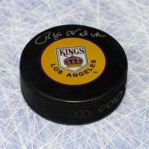 Rogie Vachon Los Angeles Kings Autographed Retro Logo Hockey Puck