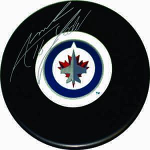 Andrew Ladd - Signed Winnipeg Jets Logo Puck