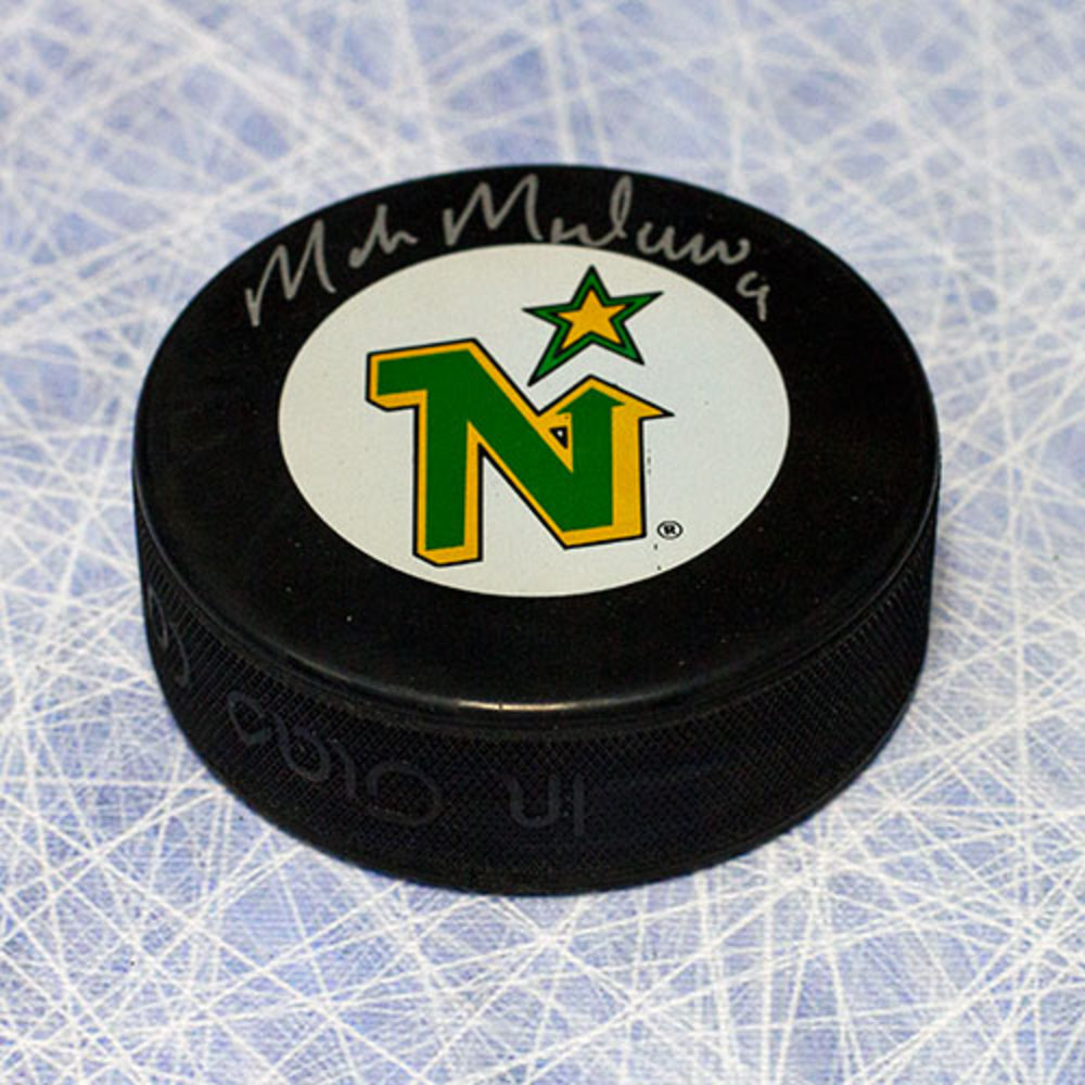 Mike Modano Minnesota North Stars Autographed Hockey Puck